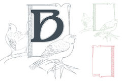 Template for Initial letter. Royalty Free Stock Photography