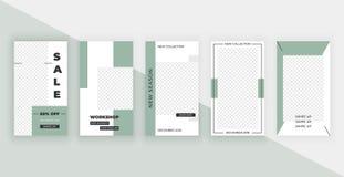 Template for Instagram Stories. Modern fashion cover design for social media, flyers. vector illustration