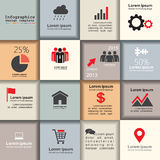 Template for interface or infographic. Vector. Template for interface or infographic with place for your content. Vector illustration Royalty Free Stock Image