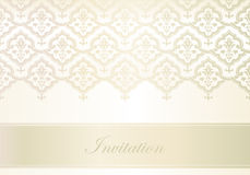 Template for invitation card. Ornate golden decorative vector invitation card Royalty Free Stock Photography