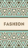 Invitation or card with fashion pattern Royalty Free Stock Image