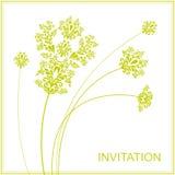Elegant flowers. Template invitation with filigree flowers Stock Illustration