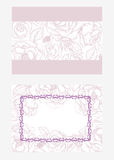 Template for invitation with flowers and buds of roses Stock Image