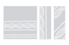 Template invitation, pattern of knitted fabric Royalty Free Stock Photo