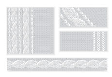Template invitation, pattern of knitted fabric Royalty Free Stock Photos