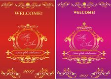 Template invitation to the wedding. Stock Images