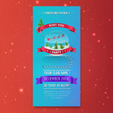 Template of Invitational Christmas Party flyer. Vector illustration royalty free illustration
