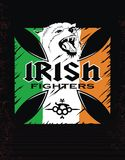 Template Irish fighters. Logo design for T-shirts Irish fighters Stock Image