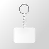 Template Keychain Keys on a Ring with a Chain Stock Image