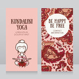 Template for kundalini yoga studio business card Royalty Free Stock Images