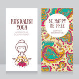 Template for kundalini yoga studio business card Stock Photo