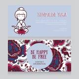 Template for kundalini yoga studio business card Stock Image