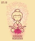 Template for kundalini yoga studio business card Royalty Free Stock Photography