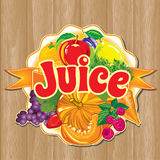 Template for label of juice from the fruits and vegetables Stock Photography