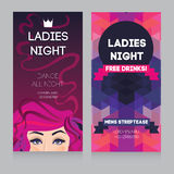 Template for Ladies night party Royalty Free Stock Images