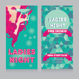 Template for Ladies night party Royalty Free Stock Image