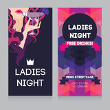 Template for Ladies night party Stock Photos