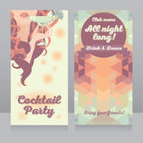 Template for Ladies night party Stock Photography