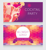 Template for Ladies night party with beautiful girl drinking margarita Stock Photo