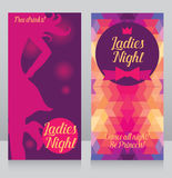 Template for ladies night party invitation Stock Image