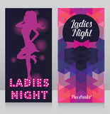 Template for ladies night party invitation Royalty Free Stock Photos