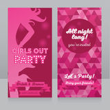 Template for ladies night party invitation Royalty Free Stock Image