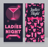 Template for Ladies night party invitation Stock Photos