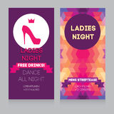 Template for Ladies night party invitation Royalty Free Stock Photography