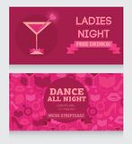 Template for Ladies night party invitation Stock Photo