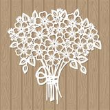 A template for laser cutting. Bouquet of flowers. For cutting from paper, wood, metal. Suitable for the design of wedding invitations, menus, scrapbooking stock illustration