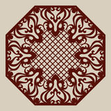 Template for laser cutting decorative pane Royalty Free Stock Photo
