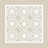 Template for laser cutting decorative panel Stock Images