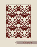 Template for laser cutting decorative panel Royalty Free Stock Photos