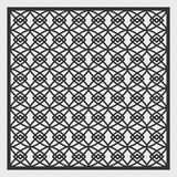 A template for laser cutting. A square panel with a geometric repeating pattern. Decorative grille. Stock Images