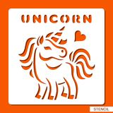Stencil for children. Unicorn. royalty free illustration