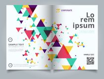 Template layout brochure abstract colorful and creative modern g stock illustration