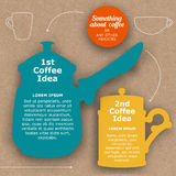 Template of layout in coffee style Stock Photo