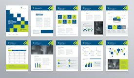 Template layout design with cover page for company profile ,annual report , brochures, flyers, presentations. Leaflet, magazine,book . and vector a4 size for Stock Photography