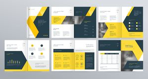 Template layout design with cover page for company profile ,annual report , brochures, flyers,. Presentations, leaflet, magazine,book . and vector a4 size for stock illustration