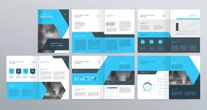 Template layout design with cover page for company profile ,annual report , brochures, flyers,. Presentations, leaflet, magazine,book . and vector a4 size for vector illustration