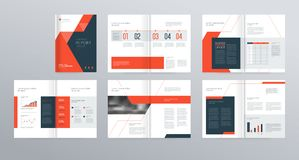 Template layout design with cover page for company profile ,annual report , brochures, flyers,. Presentations, leaflet, magazine,book . and vector a4 size for royalty free illustration