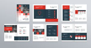 Template layout design with cover page for company profile ,annual report , brochures, flyers, presentations. Leaflet, magazine,book . and vector a4 size for Royalty Free Stock Images