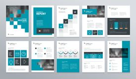 Template layout design with cover page for company profile ,annual report , brochures, flyers, presentations. Leaflet, magazine,book . and vector a4 size for Royalty Free Stock Photos