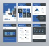 Template layout design with cover page for company profile ,annual report , brochures, flyers, presentations. Leaflet, magazine,book . and vector a4 size for Stock Images