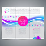 Template leaflet design Royalty Free Stock Photos