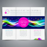 Template leaflet design Royalty Free Stock Photography