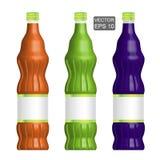 Template of lemonade bottles vector illustration