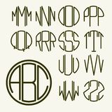 Template letters to create  monogram Royalty Free Stock Photography