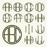 Template letters to create  monogram Royalty Free Stock Images