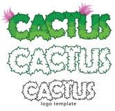 Template logo cactus Royalty Free Stock Photo